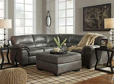 microfiber living room furniture sage green and brown ideas redondo modern gray sofa couch ottoman sectional set new
