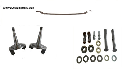 4& DROP I-BEAM Front Axle 29-48 Ford Spindle Front Disc