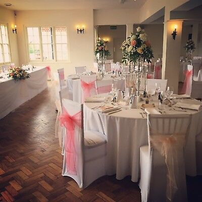 chair covers and sashes essex unfinished ladder back chairs black or white wedding cover sash hire london 1 00 picclick uk