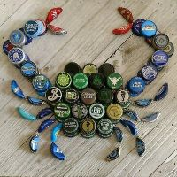CRAFT BEER BOTTLE Cap Crab Wall Art - $50.00 | PicClick
