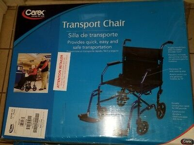 carex transport chair design manufacturers 19 inch wheelchair folding with rolling foot rests easy compact
