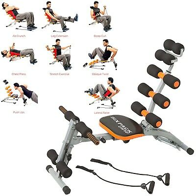 multi gym chair swivel chairs under $200 abdominal ab rocket fitness 6 trainer exerciser crunches machine