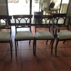 Tell City Chairs Pattern 4526 Chair And A Half Ikea Mahogany Rose Back Duncan Phyfe Dining 4 Of 3 Side 1 Captain S 27