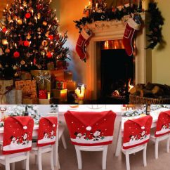 Santa Chair Covers Sets Lightweight Folding Hat Christmas Decor Kitchen Dinner Xmas Cap Party Us Clause Red
