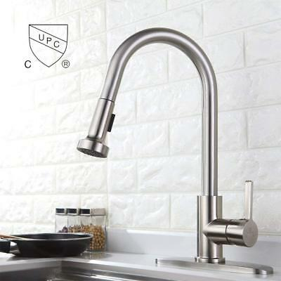 kitchen faucets with sprayer value city furniture tables commercial spring pull down out sink faucet brushed deck plate