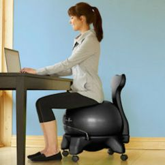 Exercise Ball Chair For Back Pain Kitchen Seat Replacement New Gaiam Balance Relief Office Ergonomic Desk W Wheels Posture Ships Free
