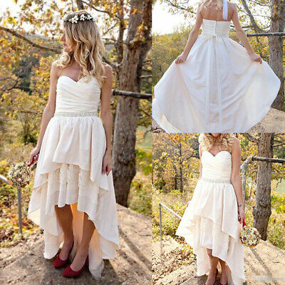 High Low Country Wedding Dresses With Boots Weddon