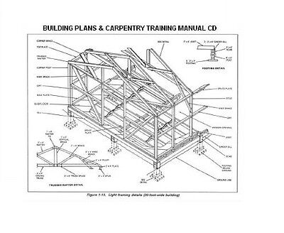 TIMBER FRAME SHED Plans size 12' x 16' two doors, printed