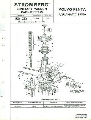 VOLVO PENTA AQUAMATIC 95/100 Stromberg 150 Cd Carburettor