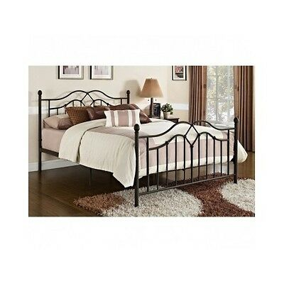 Queen Size Bed Frame Metal Headboard Footboard Contemporary Bedroom Furniture