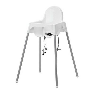 ikea high chairs kids wood table and new chair w safety belt antilop modern baby white