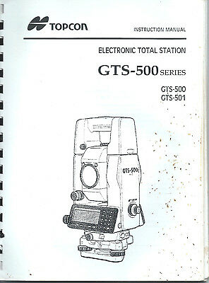 TOPCON INSTRUCTION MANUAL Electronic Total Station, Gts