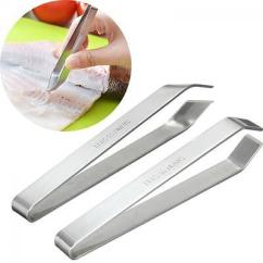 Kitchen Tweezers Small Remodel Home Tool Puller Fish Bone Stainless Steel Remover