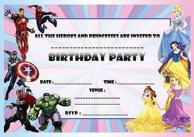 disney princess super heroes birthday