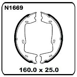 HAND BRAKE SHOES For Holden Commodore Vn, Vg Ute, Vp, Vr