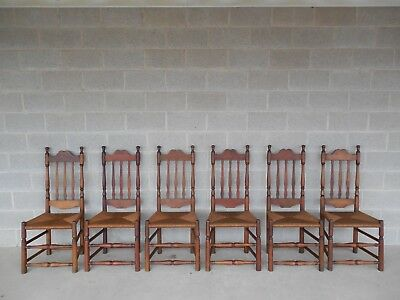antique ladder back chairs with rush seats pull out sleeper chair english windsor set of 6 - $12,000.00 | picclick