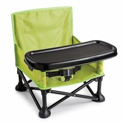 Portable Folding High Chair Redo Kitchen Table And Chairs Booster Seat Hook On Pop Sit Green Lightweight Baby