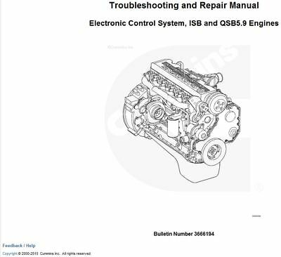 CUMMINS ISBE, ISB, QSB Common Rail Fuel System 3.9 4.5 5.9