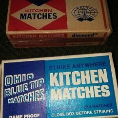 Kitchen Matches How To Remodel Vintage 1984 Ohio Blue Tip 250 Strike Anywhere