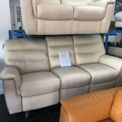 Modena 2 Seater Reclining Leather Sofa White Sectional Furniture Village 3 Sofas Electric Man Cream And Power