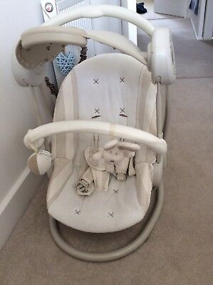 swing chair mamas and papas suede computer starlite with music used 20 00