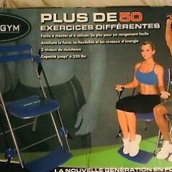 Gym Chair As Seen On Tv Canvas Beach Chairs Total Body Workout Brand New 144 99