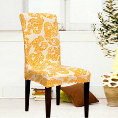 stretch dining chair covers wheelchair ramp for van us new printed weddings banquet hotel cover ds