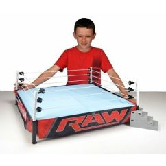 Steel Chair Used In Wwe Patio Swivel Rocker Wrestling Ring Official Scale Toy Cage Raw Light Up Stage W/ Accessories New - Eur 156,03 ...