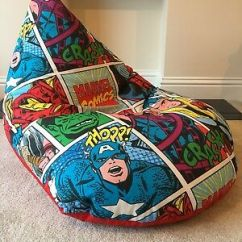 Avengers Bean Bag Chair Iron Table And Chairs Set Adult Large Beanbag Super Hero Marvel Made To Order