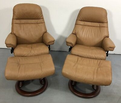 stressless chair sizes best nursery rocking 2017 ekornes modern leather recliner small size sunrise