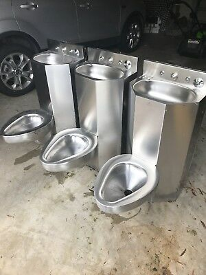 stainless steel prison toilet and sink