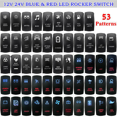 illuminated marine rocker switches data flow diagram for payroll management system boat car switch red dual backlit led spst dash blue on off light uk