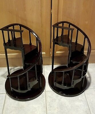Byers Choice Spiral Staircase Black With Red Overtones Piano   Byers Choice Spiral Staircase   Stair Storage   Choice Carolers   Wooden Stairs   Inches Tall   Rolling Scaffold