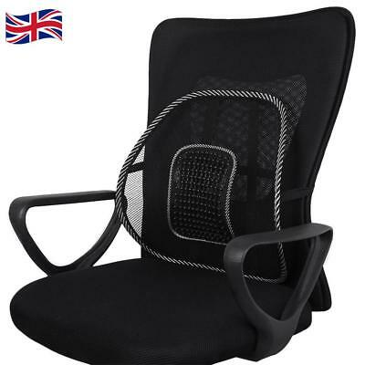 office chairs with back support uk wing chair covers canada mesh rest lumbar van car seat home pillow cushion