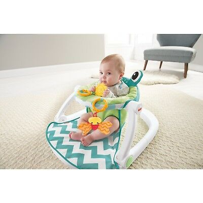 sit me up chair for babies rattan chairs argos fisher price floor seat supportive upright baby multicolor frog cushion fun
