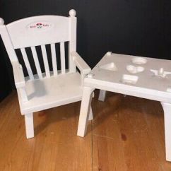 Bitty Baby High Chair Shapes Office For Large Person With Box No 49 99 Picclick White Table Good Condition Vintage American Girl