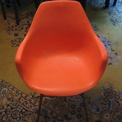 Orange Bucket Chair Covers Banquet Vintage 1960s Sam Avedon Molded Mid Century Modern Alladin Plastics