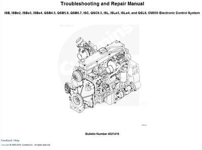 CUMMINS ISC, ISL CM2150 Engine Wiring Diagram Schematic CD