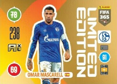 Panini Adrenalyn XL Fifa 365 2021 Limited Edition Omar Mascarell