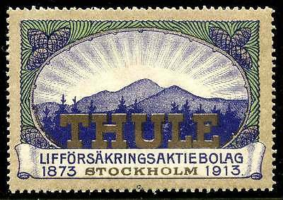 Sweden Poster Stamp - Advertising Thule Life Insurance Company