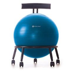 Exercise Ball Chair For Back Pain Decorating A Baby Shower Office Relief Yoga Desk Core Posture Balance Black
