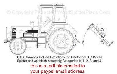 3-POINT HITCH PLANS For Categories 0,1,2,3 and 4. Tractor