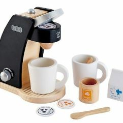 Hape Kitchen Sink Fixtures Kid S Coffee Maker Wooden Play Set With Accessories Time For Two