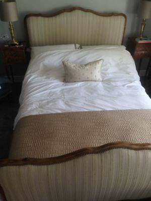 antique french double bed with footboard/headboard - £300.00