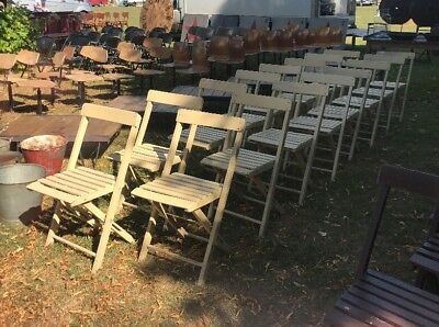 folding chair job lot chairs in spanish of 16 vintage painted wooden garden cafe bar