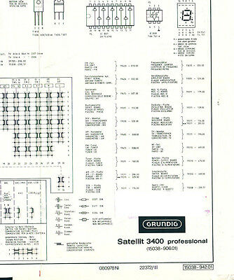 SERVICE MANUAL GRUNDIG Satellit 3400 Professional Circuit