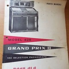 Grand Prix Parts Diagram Wiring Of 3 Way Switch Original Rock Ola Ii Model 426 Jukebox Manual 25 00