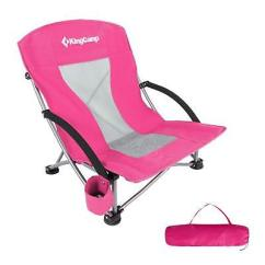 Low Back Chairs For Concerts Swivel Chair Wikipedia Kingcamp Sling Beach Camping Folding With Mesh Concert