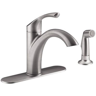 kitchen side sprayer custom sinks kohler r72508 cp mistos single handle standard faucet with and swing spout stainless steel