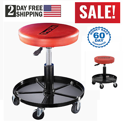 rolling stool chair how to the meeting mechanics work shop seat adjustable roll swivel tool garage